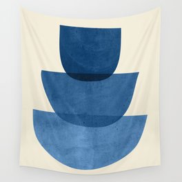 Abstract Shapes 37-Blue Wall Tapestry