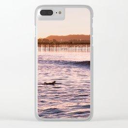 sunrise surf Clear iPhone Case