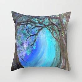Into the Ice Throw Pillow
