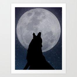 Howling at the Moon Art Print