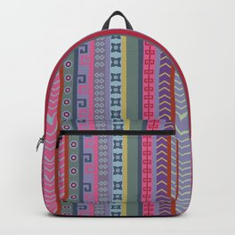 Ethnic Peruvian Striped Pattern Backpack