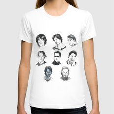 A Hero With A Thousand Faces White LARGE Womens Fitted Tee