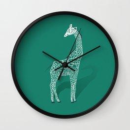Animal Kingdom: Giraffe III Wall Clock