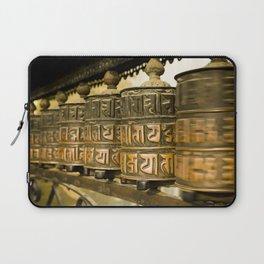 Tibetan Prayer Wheel Nepal Temple Laptop Sleeve