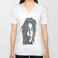 marley V-neck T-shirts featuring Marley by Travis Poston