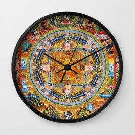 Mandala Buddhist 2 Wall Clock