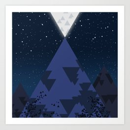 The Mountain and the Moon Art Print