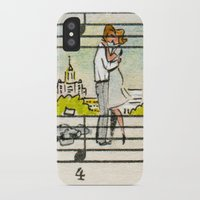 the office iPhone & iPod Cases featuring office romance by peopletoo