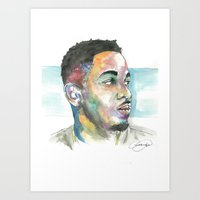 kendrick lamar Art Prints featuring Kendrick Lamar by Anthonylanza