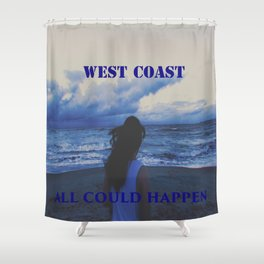 In The West Coast Shower Curtain