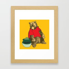 Pooh! Framed Art Print