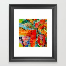 color bubble storm Framed Art Print