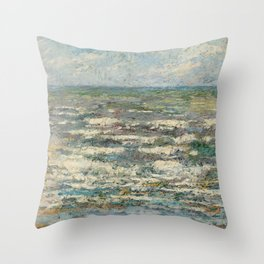 The Sea at Katwijk by Jan Toorop Throw Pillow