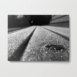 Frosted Bench Metal Print