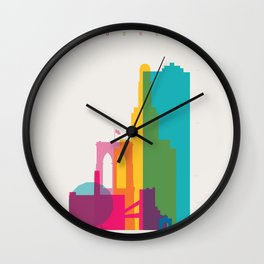 Shapes of Brooklyn. Accurate to scale Wall Clock