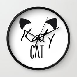 Katy Cat Wall Clock