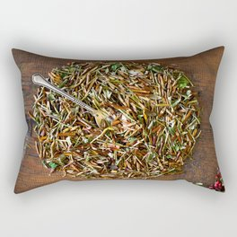 Herbal dish Rectangular Pillow