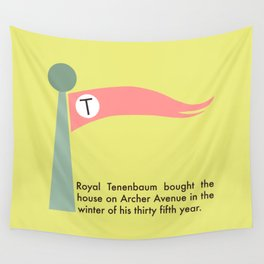 The Tenenbaums flag pennant Wall Tapestry
