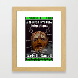"""""""The Angel of Vengeance"""" book cover art with signature Framed Art Print"""