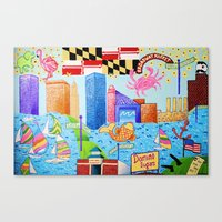 maryland Canvas Prints featuring Baltimore, Maryland by Karen Riddle