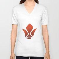 gundam V-neck T-shirts featuring iron blooded gundam  by Joshwa