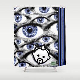 Blue Eyes HD by JC LOGAN 4 Simply Blessed Shower Curtain