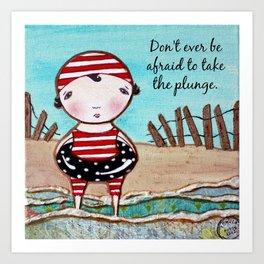 Plunge beach ocean inspiration Art Print