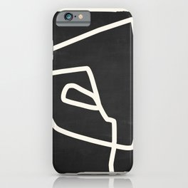 abstract minimal 57 Black & White iPhone Case