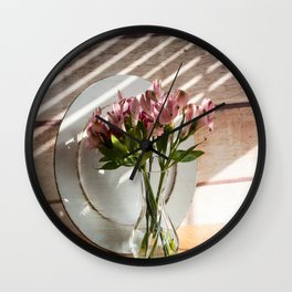 Bouquet and Plate Wall Clock