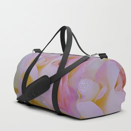 Pink rose petals kissed by raindrops Duffle Bag
