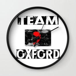 Team Oxford Wall Clock
