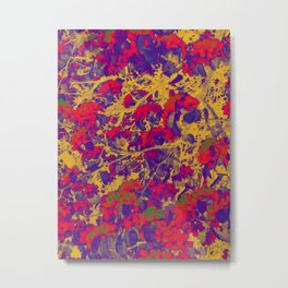 Modern Abstract Art Composition Multicolored Metal Print