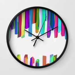 Colorful Stripes 3 Wall Clock