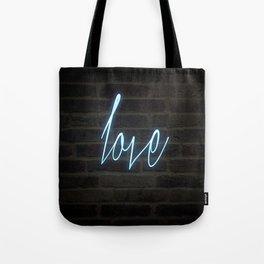 Neon Love Tote Bag