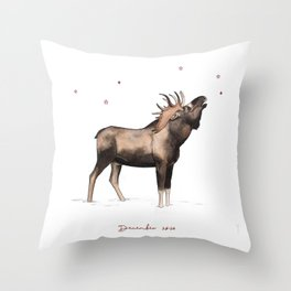Christmas deer | Moose | DEAU Throw Pillow