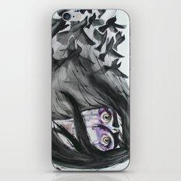 Dark Wings, Dark Words iPhone Skin