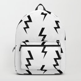 Bolts lightning bolt pattern black and white minimal cute patterned gifts Backpack