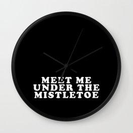 Mistletoe Kiss Wall Clock