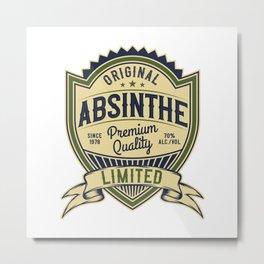 Absinthe - Green Fairy - 05 - hell Metal Print