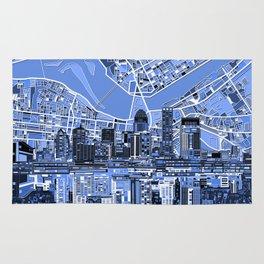 louisville city skyline blue Rug