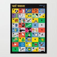 Hindi Chart Masala Canvas Print