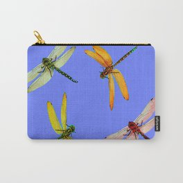 COLORFUL DRAGONFLIES IN BLUE SKY  DESIGN Carry-All Pouch