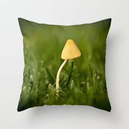 Lonely Mushroom Throw Pillow