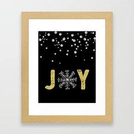 JOY w/White Snowflakes Framed Art Print