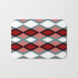Diamond Pattern Design Bath Mat