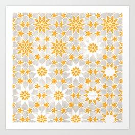 Pivot Star Pattern  Art Print