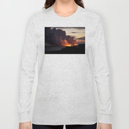 Lava Vaporizes Ocean Long Sleeve T-shirt