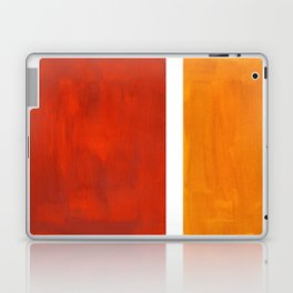 Burnt Orange Yellow Ochre Mid Century Modern Abstract Minimalist Rothko Color Field Squares Laptop & iPad Skin