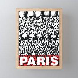 """Poster collection """"Les catacombes de Paris"""" Framed Mini Art Print"""