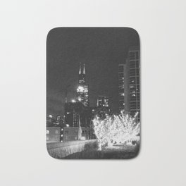 Sears Tower Night Black & White Bath Mat
